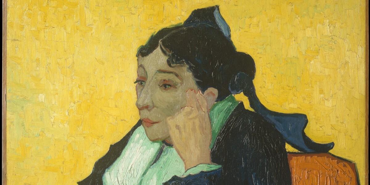 Recorte do quadro L'Arlésienne: Madame Ginoux, or Portrait of Madame Ginoux, de Van Gogh