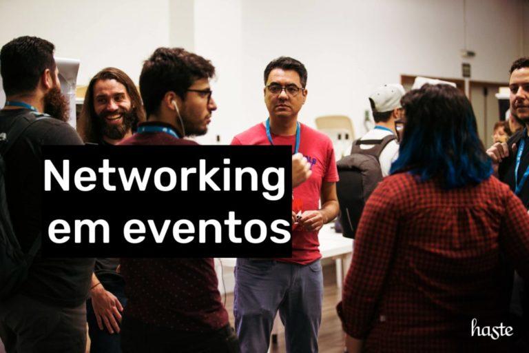 Networking em eventos. Imagem ilustrativa.