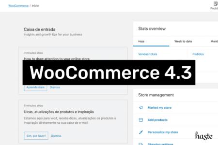 Imagem ilustrativa do painel principal do WooCommerce