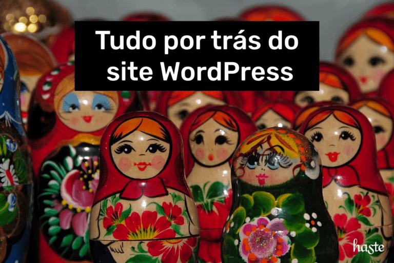 Tudo por trás de um site WordPress. Imagem ilustrativa.