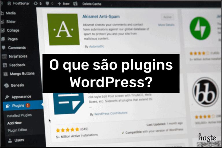 O que são plugins WordPress? Imagem ilustrativa.