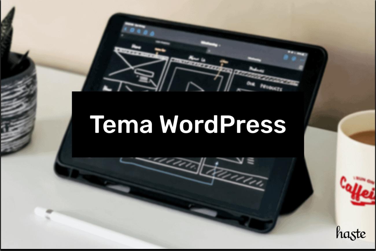 Tema WordPress. Imagem ilustrativa.