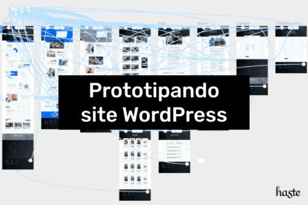 Prototipando site WordPress. Imagem ilustrativa.