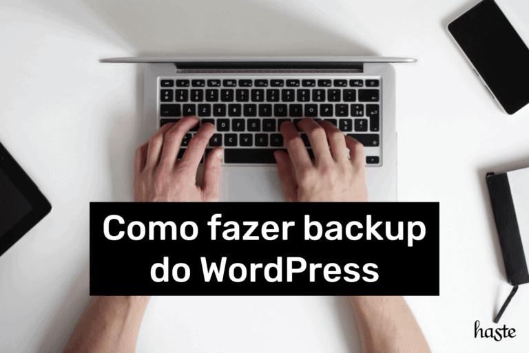 Como fazer backup do WordPress. Imagem ilustrativa.