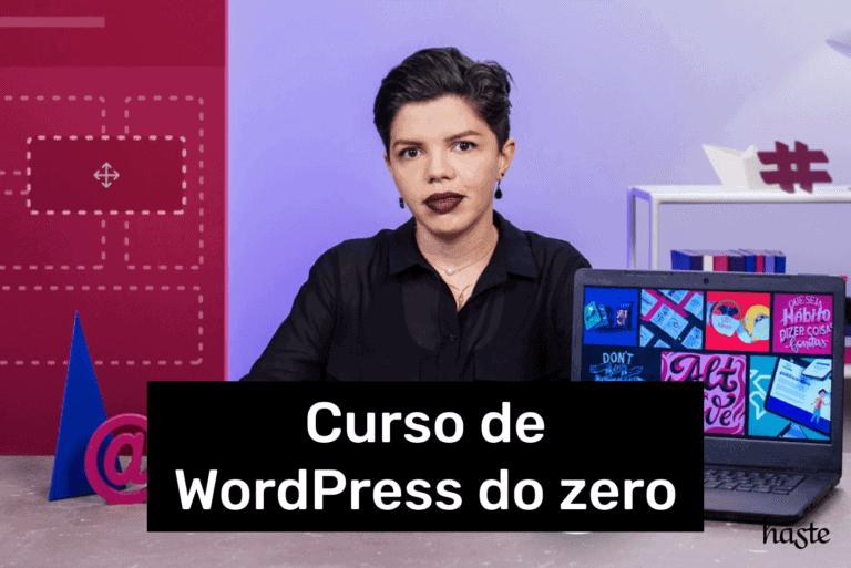 Imagem de divulgação do curso de WordPress do zero com Anyssa Ferreira para a Doméstika.