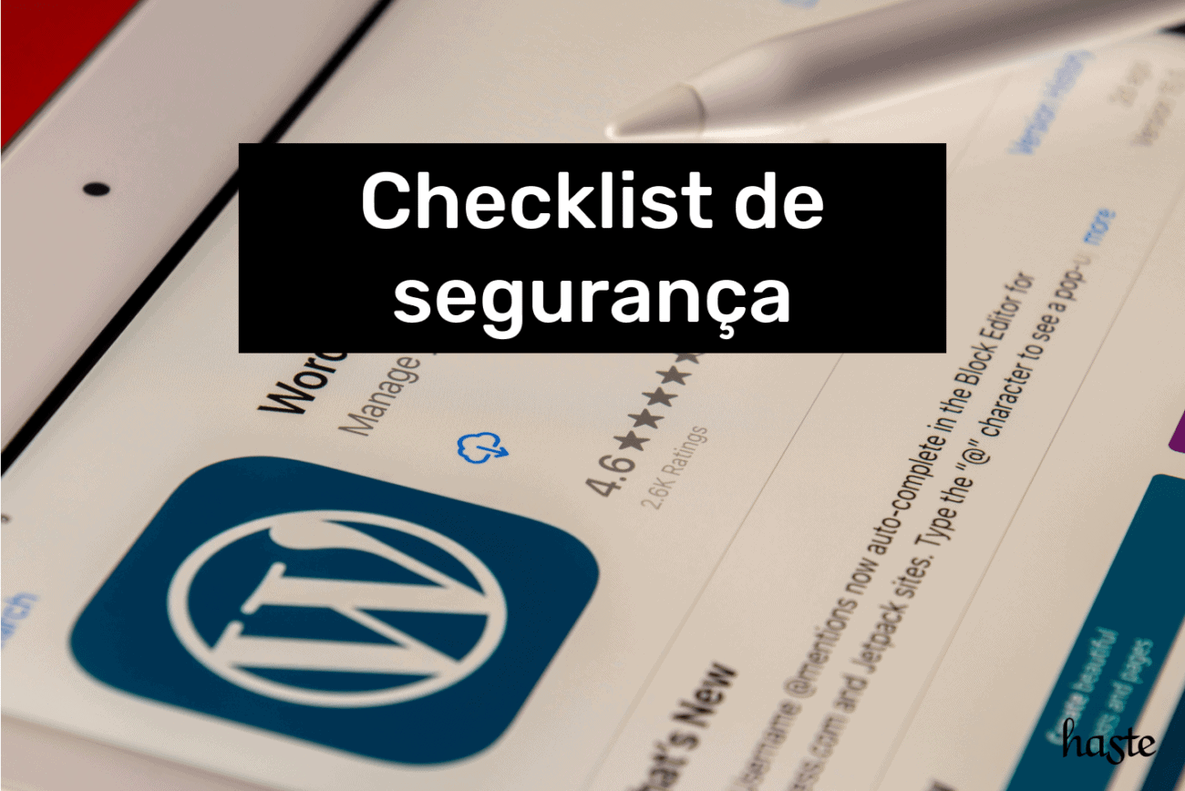Checklist de segurança WordPress. Imagem ilustrativa.