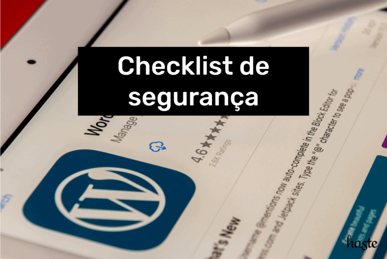 Checklist de segurança WordPress