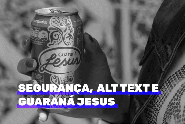 Compartilhaste 20 - segurança wordpress, texto alternativo e Guaraná Jesus. Imagem ilustrativa.