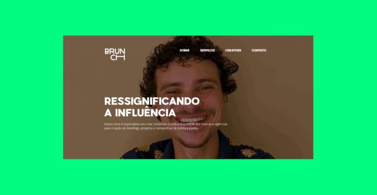 Captura de tela da página inicial do site da Brunch.