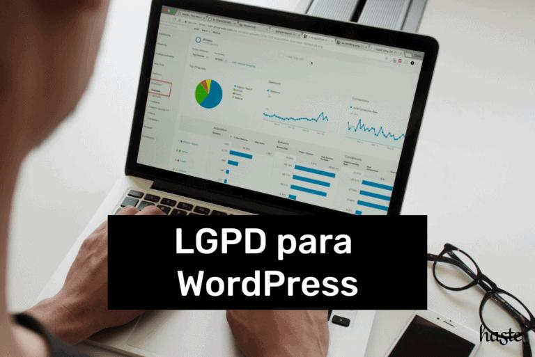 LGPD para WordPress. Imagem ilustrativa.
