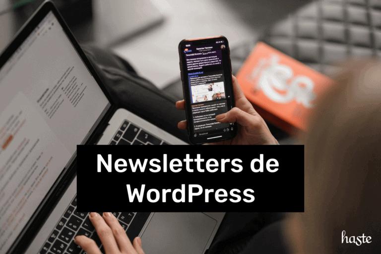 Newsletters de WordPress. Imagem ilustrativa.