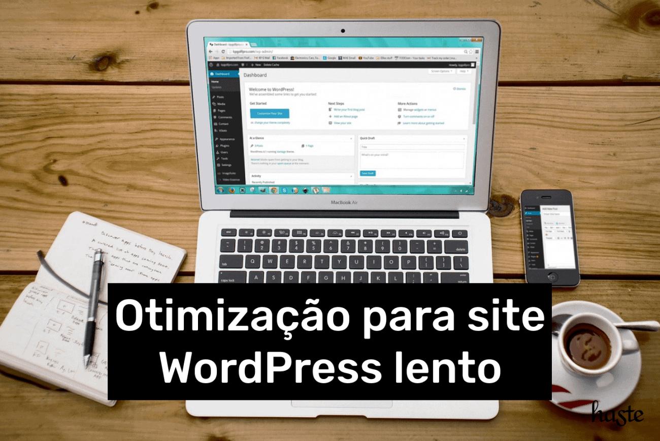 Otimização para site WordPress lento. Imagem ilustrativa.